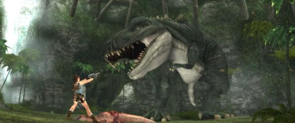 tomb raider anniversary 02 T-Rex - con un pad